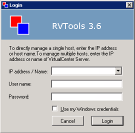 rvtools-login-windows